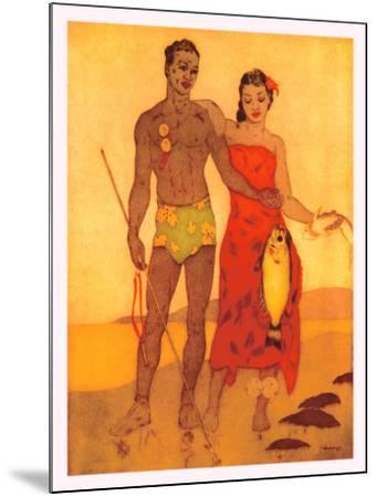 Fisherman of Hawaii-John Kelly-Mounted Giclee Print