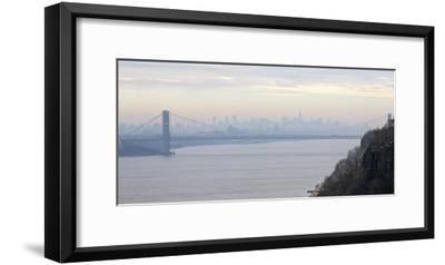 George Washington Bridge at Dawn-Hank Gans-Framed Art Print