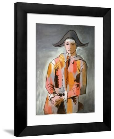 Arlequin, Les Mains Croisee, 1923-Pablo Picasso-Framed Art Print