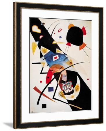 Two Black Spots-Wassily Kandinsky-Framed Art Print