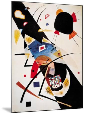 Two Black Spots-Wassily Kandinsky-Mounted Art Print