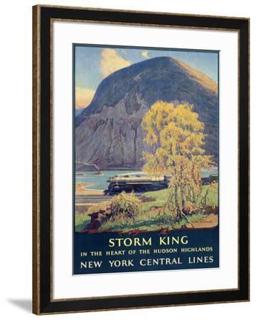 Storm King, New York Central Lines-Walter L^ Greene-Framed Giclee Print