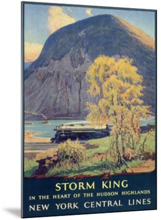 Storm King, New York Central Lines-Walter L^ Greene-Mounted Giclee Print