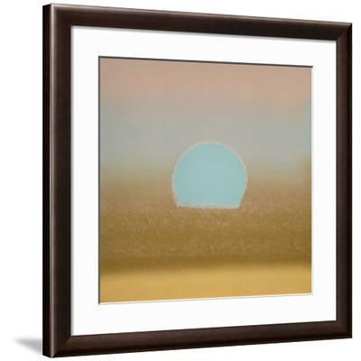 Sunset, c.1972 (gold, blue)-Andy Warhol-Framed Giclee Print