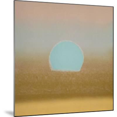 Sunset, c.1972 (gold, blue)-Andy Warhol-Mounted Giclee Print
