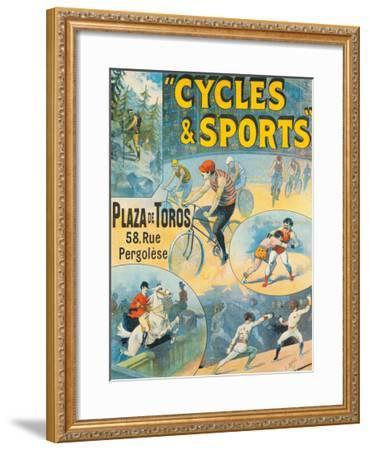 Exposition Internationale, Cycles & Sports-Lucien Lefevre-Framed Giclee Print