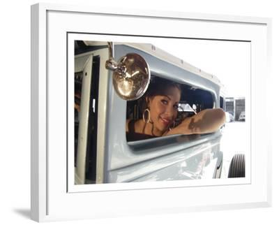 Hot Rod Pin-Up Girl-David Perry-Framed Giclee Print