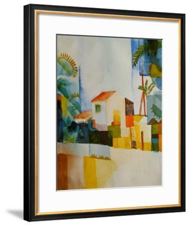 The Light-Coloured House, c.1914-Auguste Macke-Framed Art Print