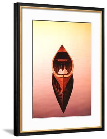 Deserted Canoe-Marty Loken-Framed Art Print