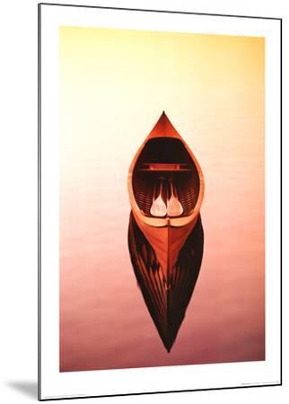 Deserted Canoe-Marty Loken-Mounted Art Print