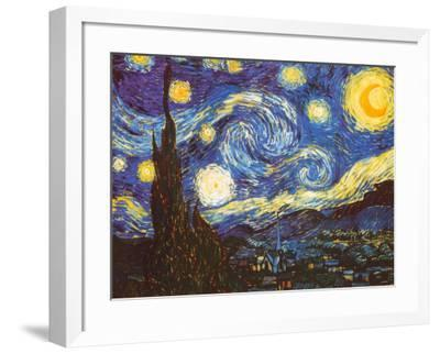 Starry Night, c.1889-Vincent van Gogh-Framed Art Print