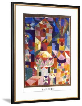 Garden View-Paul Klee-Framed Art Print