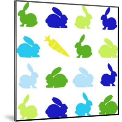 Animal Sudoku in Blue II-Chariklia Zarris-Mounted Art Print