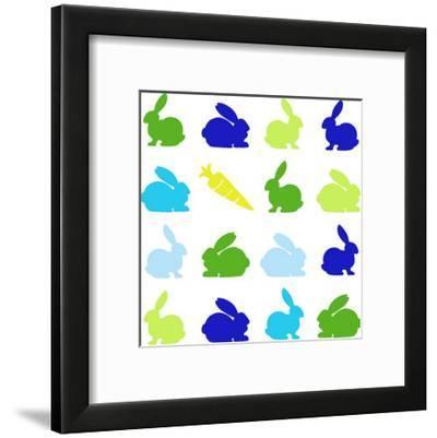 Animal Sudoku in Blue II-Chariklia Zarris-Framed Art Print