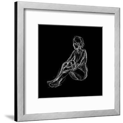 Figure Study on Black I-Charles Swinford-Framed Art Print