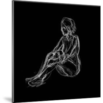 Figure Study on Black I-Charles Swinford-Mounted Art Print