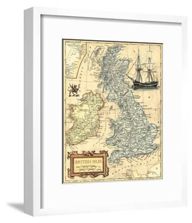 British Isles Map--Framed Art Print