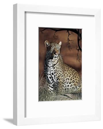 Sitting Leopard-Rajendra Singh-Framed Art Print