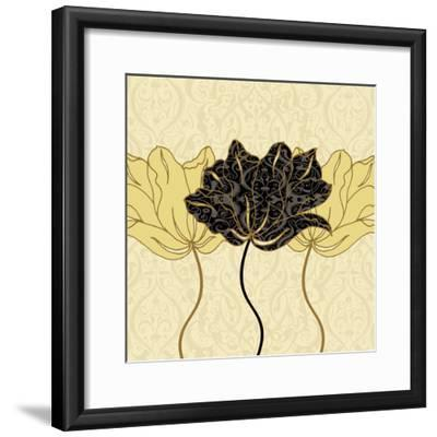 Golden Cluster I-Linda Wood-Framed Art Print