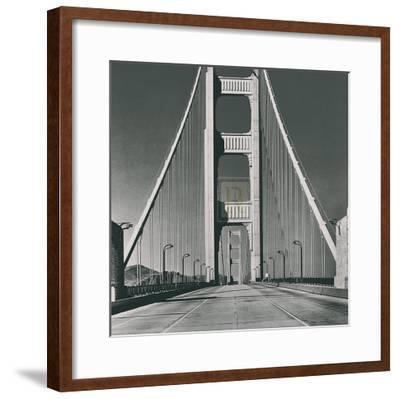 The Golden Gate Bridge, Summer AM-The Chelsea Collection-Framed Art Print
