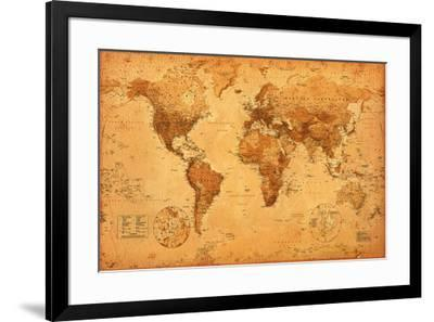 World Map--Framed Poster