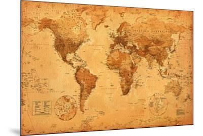 World Map--Mounted Poster