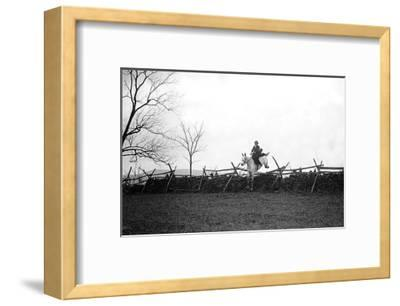 Fox Hunt Jump-Mariam Dixon-Framed Art Print
