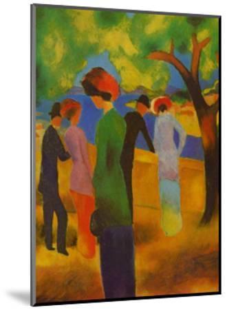 Dame in Gruner, Jacke Park-Auguste Macke-Mounted Art Print