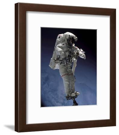 Space Shuttle Walk--Framed Art Print