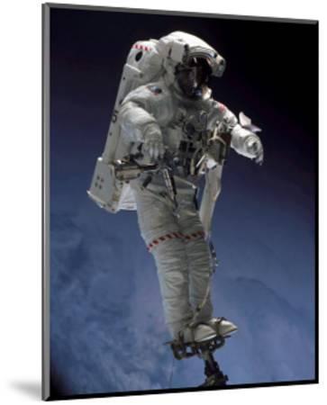 Space Shuttle Walk--Mounted Art Print