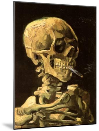 Skull with Burning Cigarette-Vincent van Gogh-Mounted Art Print