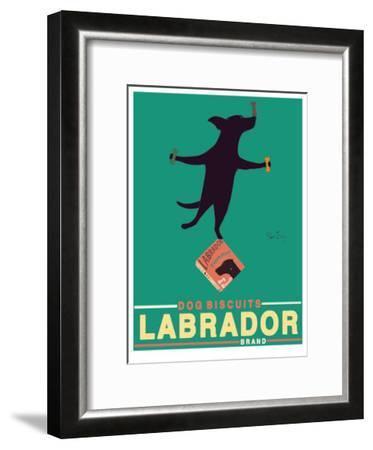 Black Lab Biscuits-Ken Bailey-Framed Collectable Print