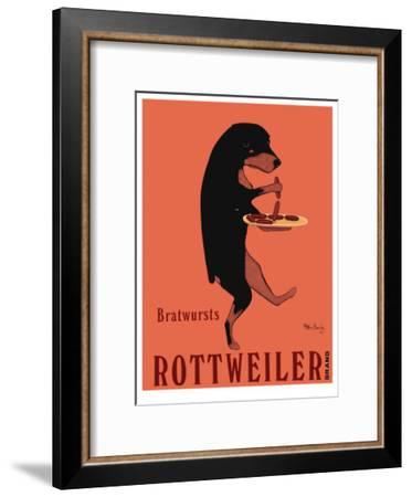 Rottweiler Brand-Ken Bailey-Framed Collectable Print