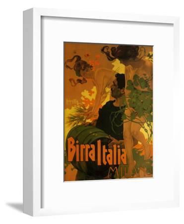 Birra Italia, c.1906-Adolfo Hohenstein-Framed Art Print