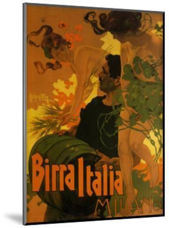 Birra Italia, c.1906-Adolfo Hohenstein-Mounted Art Print