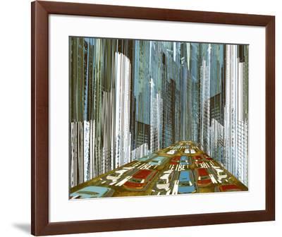On the Sidelines II-Mj Lew-Framed Art Print