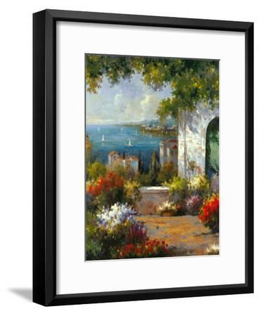 View through the Arch-Harvey-Framed Art Print
