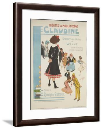 Moulin Rouge: Claudine-Clerisse-Framed Art Print