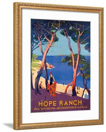 Hope Ranch Exclusive Club--Framed Giclee Print