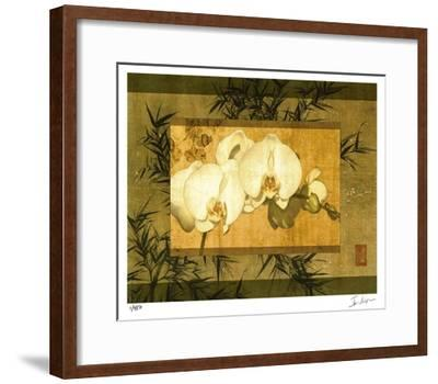 Bamboo & Orchids II-Ives Mccoll-Framed Giclee Print