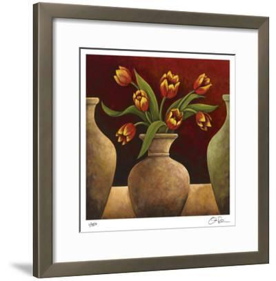Red Tulips-Georgia Rene-Framed Giclee Print