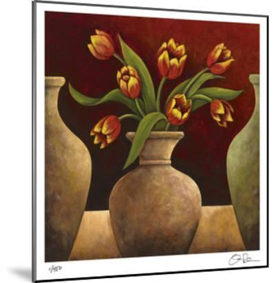 Red Tulips-Georgia Rene-Mounted Giclee Print