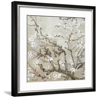 Almond Branches in Bloom, San Remy, c.1890 (tan)-Vincent van Gogh-Framed Art Print