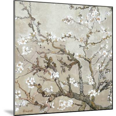Almond Branches in Bloom, San Remy, c.1890 (tan)-Vincent van Gogh-Mounted Art Print