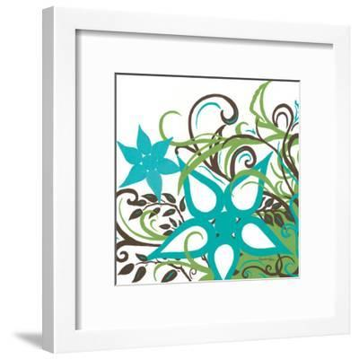 Floral Twist I-Hakimipour-ritter-Framed Art Print