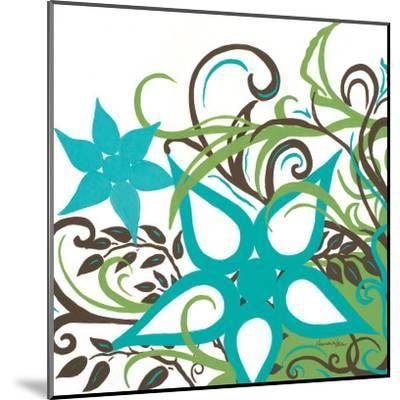 Floral Twist I-Hakimipour-ritter-Mounted Art Print