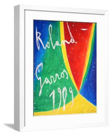 Roland Garros 1989 - De Maria-Nicola De Maria-Framed Collectable Print