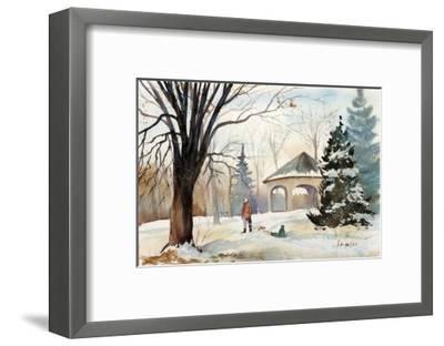 The Slide-Armande Langelier-Framed Art Print