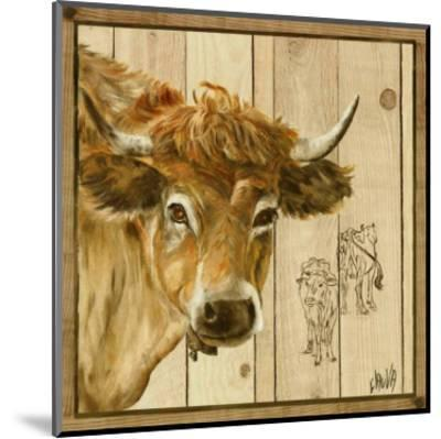 Vache Beige-Clauva-Mounted Art Print