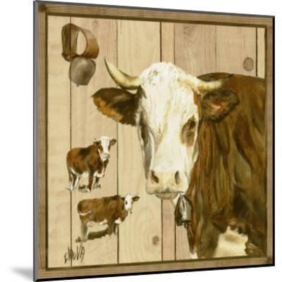 Vache Marron et Blanche-Clauva-Mounted Art Print